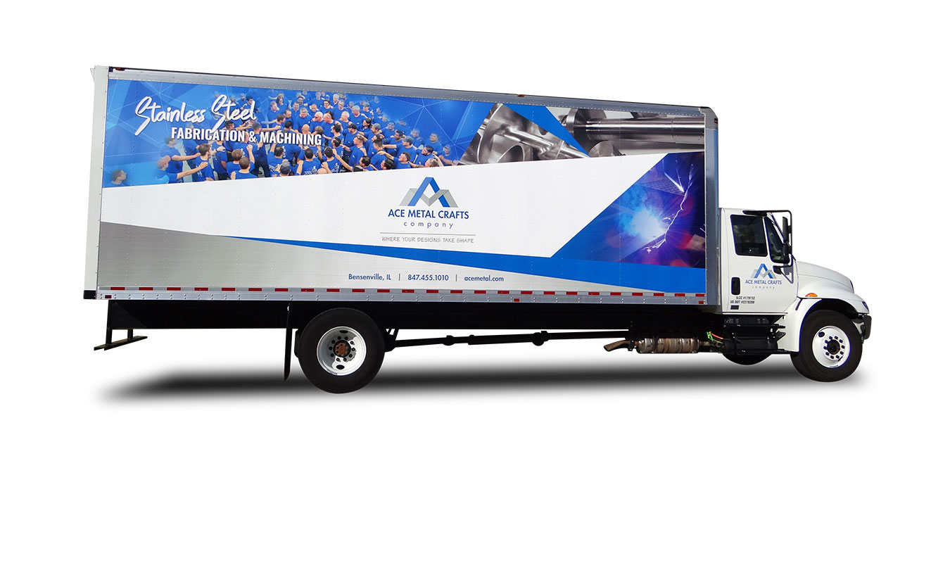 Ace Metal Crafts Company branded truck